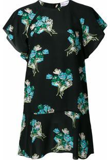 Redvalentino Vestido Floral - Preto