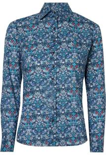 Camisa Ml Feminina Estampada Liberty (Estampado, 42)