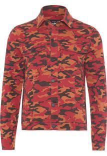 Jaqueta Masculina Camouflage Color - Laranja