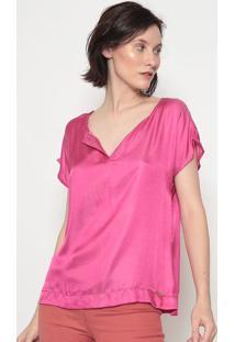Blusa Lisa Com Seda- Pink- Vip Reservavip Reserva