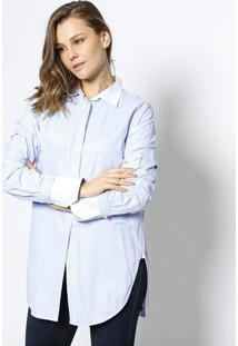 a4672ca83 ... Camisa Mia Listrada - Azul Claro   Brancole Lis Blanc
