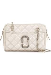 Marc Jacobs Quilted Snapshot Shoulder Bag - Prateado