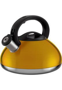 Chaleira Retro- Inox & Amarela- 3L- Euro Homewareuro Homeware