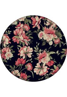 Tapete Love Decor Redondo Wevans Flores 84Cm