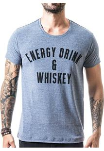 Camiseta T-Shirt Liferock Energy Drink - Masculino-Azul Claro