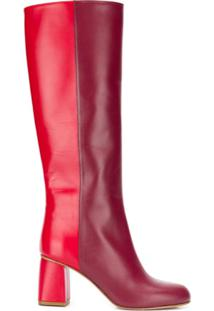 Red Valentino Bota Avired Bicolor - Vermelho