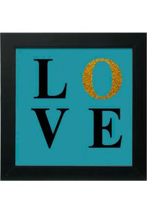 Quadro Decorativo Love L Preto