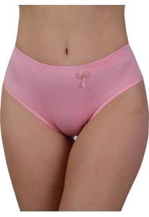 Calcinha Cintura Alta Vip Lingerie Elástico Barra 25 Rosa - Tricae