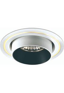 Spot Led Embutir De Alumínio Spy 9,5Cmx8,8Cm Bella Iluminação 9W Branco E Preto