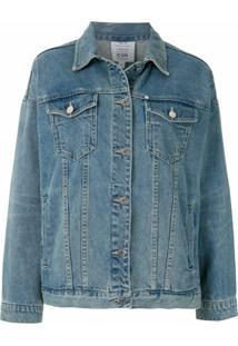 Armani Exchange Jaqueta Jeans Com Logo - Azul