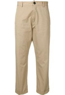 Dsquared2 High-Waisted Chino Trousers - Neutro