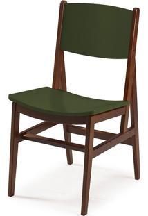 Cadeira Dumon Cacau E Verde Musgo