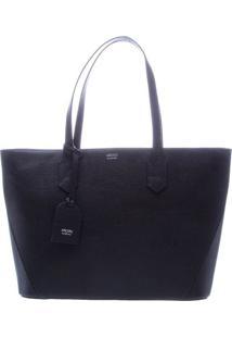 Bolsa Shopper Com Recortes & Bag Charm- Azul Marinhoarezzo & Co.