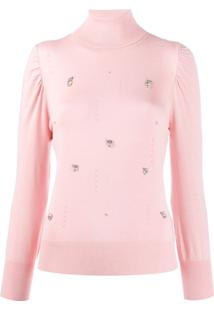 Liu Jo Crystal Embellished Jumper - Rosa