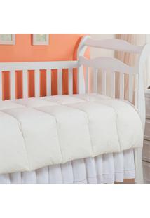 Edredom Baby Pluma De Ganso 233 Fios Bege 120X140Cm Plumasul