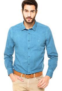 Camisa Aramis Jateada Azul