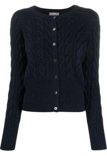 N.Peal Cable Knit Cardigan - Azul