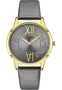 Relógio Curren Analógico C9049L Feminino - Feminino-Cinza