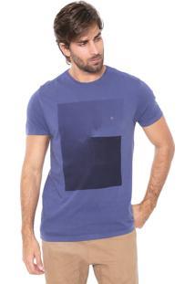 Camiseta Aramis Espiral Azul-Marinho