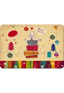 Tapete Sala Wevans Merry Christmas Único Love Decor