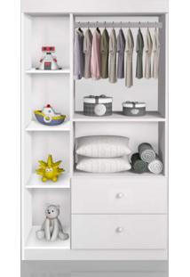 Guarda Roupa De Bebê 3 Portas Catatu J E A Móveis Branco/Rosa