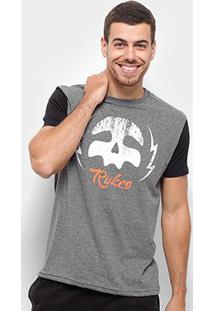 Camiseta Rukes Raio Raglan Masculina - Masculino-Mescla Escuro