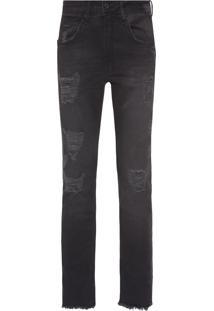 Calça Jeans Masculina Five Pockets Super Skinny - Preto
