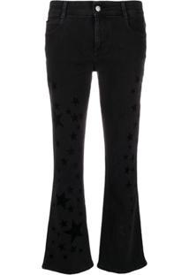 Stella Mccartney Star Print Kick-Flare Jeans - Preto
