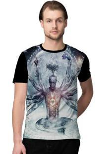 Camiseta Stompy Psicodelica14 Masculina - Masculino-Preto