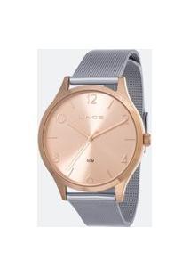 Kit Relógio Feminino Lince Lrt4600L-Kw34R2Sx Analógico 5Atm + Pulseira | Lince | Rosa | U