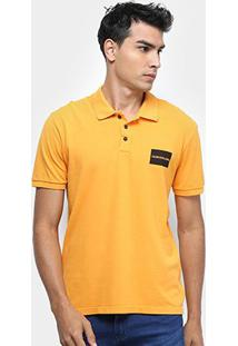 Camisa Polo Calvin Klein Masculina - Masculino-Amarelo