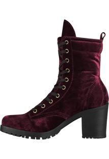 Bota Barth Shoes Thunder Veludo Bordô