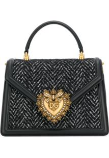 Dolce & Gabbana Bolsa Tote Devotion - Preto