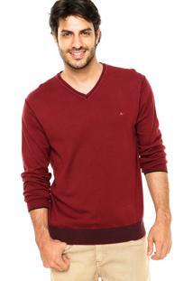 Suéter Aramis Recortes Vinho