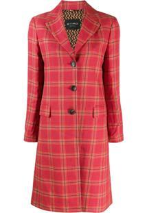 Etro Blazer De Tweed Com Abotoamento Simples - Vermelho