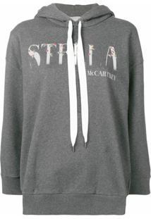 Stella Mccartney Moletom Com Logo - Cinza