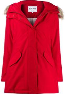 Woolrich Zipped Waterproof Raincoat - Vermelho