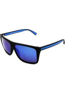 Óculos De Sol Khatto Kt8032 Preto Lente Azul