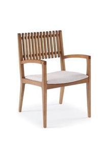 Cadeira Farm Com Bracos Encosto Ripado E Assento Estofado - 50904 50904