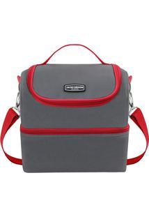 Bolsa Térmica Gg - Cinza & Vermelha - 28X27X22,5Cmjacki Design