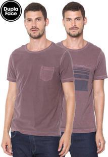 Camiseta Aramis Dupla Face Caligrafia Vinho
