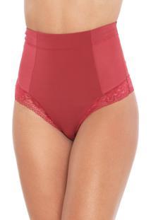 Calcinha Morena Rosa Hot Pant Recortes Vermelha