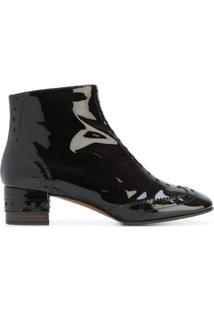 Chloé Ankle Boot De Couro Envernizado - Brown