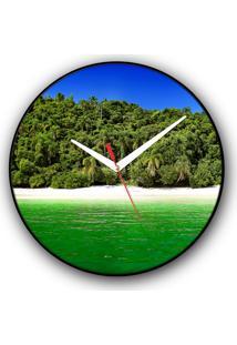 Relógio De Parede Colours Creative Photo Decor Decorativo, Criativo E Diferente - Praia E Mar