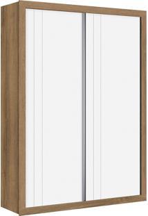 Roupeiro 2 Portas De Correr Prince Branco Fosco/ Mezzo Reller Móveis