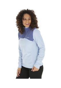 Blusão De Frio Fleece Columbia West Ridge Half Zip - Feminino - Azul Claro