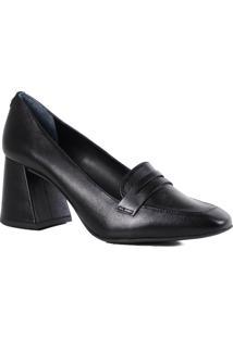 Sapato Feminino Loafer Jorge Bischoff Scarpin Salto Grosso