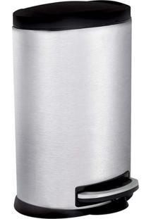 Lixeira Inox 5 Litros Pedal Banheiro Cozinha Oval 8230 - Kanui