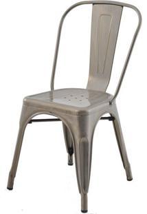 Cadeira Iron Tolix Sem Braco Vintage Aco Fosco - 29907 - Sun House
