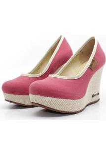 Scarpin Barth Shoes Land Sl Juta Nat Lona Feminino - Feminino-Bordô